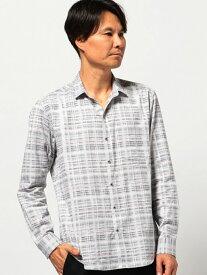【SALE/50%OFF】MEN'S BIGI ブラシ チェックジャガードシャツ メンズ ビギ シャツ/ブラウス【RBA_S】【RBA_E】【送料無料】