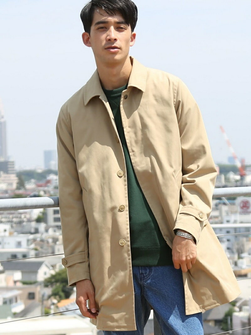 coen 2WAYスプリットラグランステンカラーコート コーエン コート/ジャケット【送料無料】