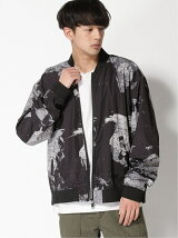 (M)GALLISADDICTION/GA MAP PRINT RIB BLOUSON