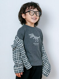 【SALE/30%OFF】SLAP SLIP グルグル 恐竜 刺? Tシャツ (80~130cm) ベベ オンライン ストア カットソー Tシャツ グレー グリーン