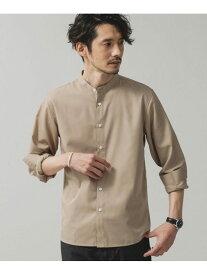 【SALE/10%OFF】nano・universe エントリーバンドカラーシャツ ナノユニバース シャツ/ブラウス シャツ/ブラウスその他 ベージュ ネイビー ホワイト【送料無料】