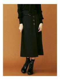 dazzlin フロントタックタイトスカート ダズリン スカート タイトスカート ブラック レッド ベージュ【送料無料】