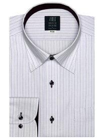 【SALE/50%OFF】BRICK HOUSE by Tokyo Shirts (M)形態安定 ノーアイロン 長袖シャツ スナップダウン パープルストライプ 標準体 ブリックハウスバイトウキョウシャツ シャツ/ブラウス 長袖シャツ パープル