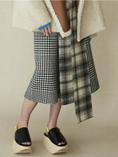 blanket check a-line skirt
