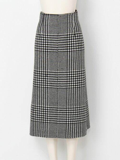 blanket check a-line skirt