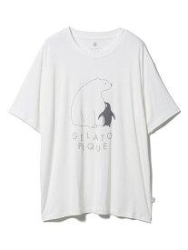 gelato pique 【COOL FAIR】シロクマTシャツ ジェラートピケ インナー/ナイトウェア ルームウェア/トップス ホワイト【送料無料】