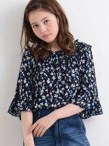 【WEB限定価格】☆J袖ボリュームフリル花柄ブラウス