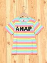 ANAPKIDSカラフルボーダーTシャツ