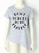 アシメプリントTシャツ