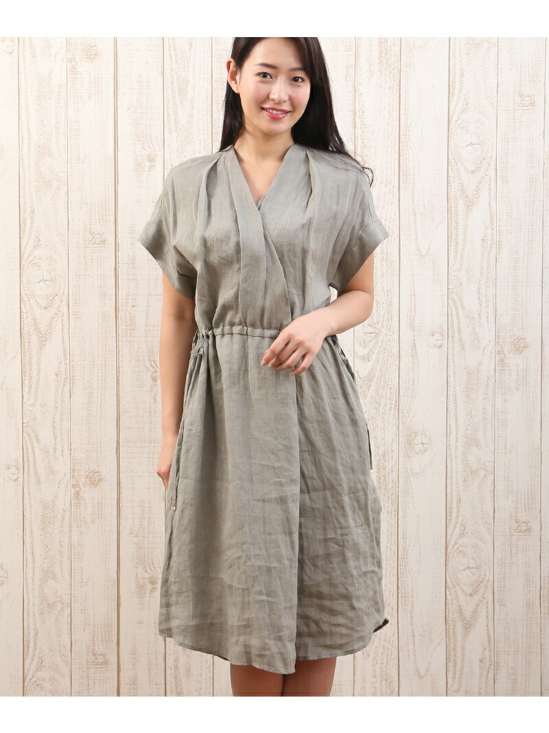 【SALE/50%OFF】INED ワイドリネンシャツワンピース《MONTI》【MORE/LEE7月号掲載】 イネド ワンピース【RBA_S】【RBA_E】【送料無料】