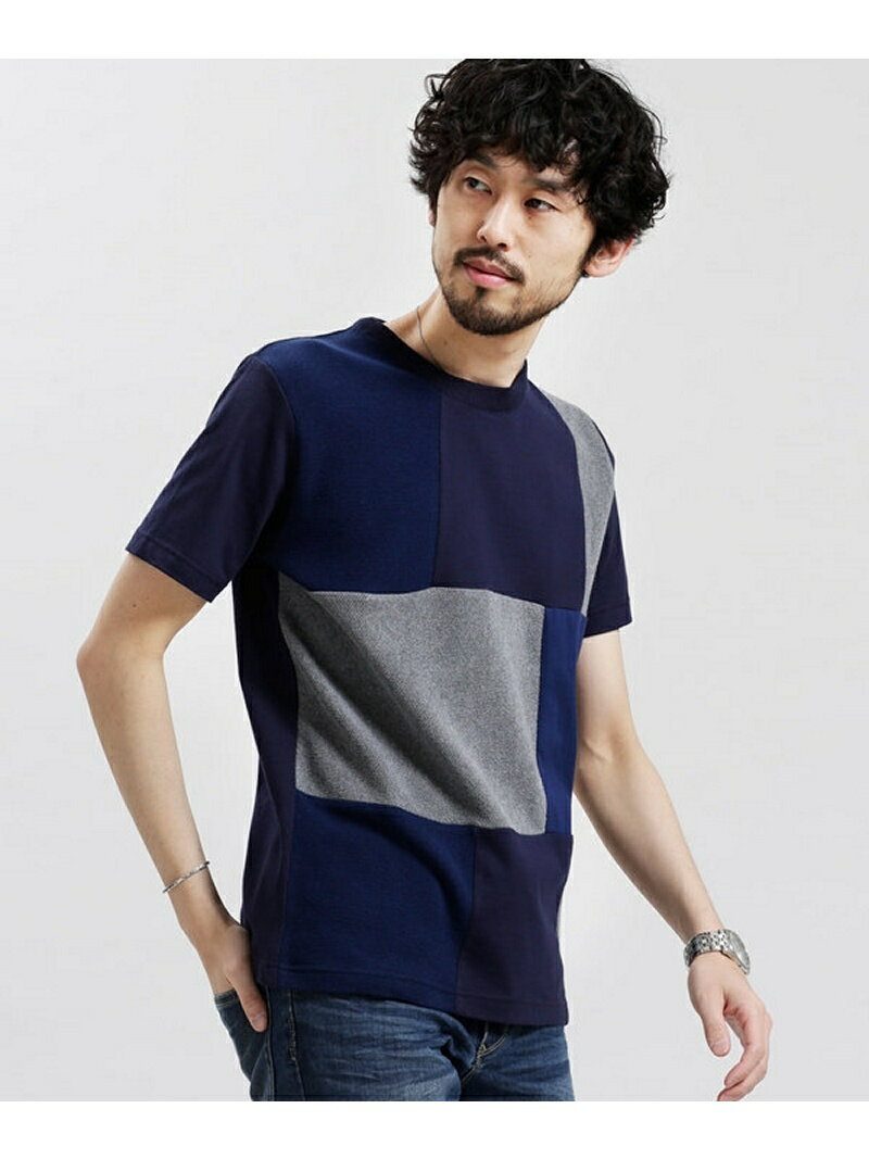 【SALE/60%OFF】nano・universe パッチワークライクTシャツ SS ナノユニバース カットソー【RBA_S】【RBA_E】