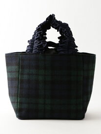 LE JOUR 【CACHELLIE】FRILL HANDLE CHECK TOTE(S) ルジュール バッグ【送料無料】