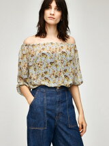 FLOWER OFF SHOULDER TOPS