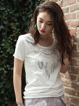 SHELL NECKLACEプリントTシャツ
