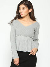 MIX Pattern Knit ペプラムTOP?