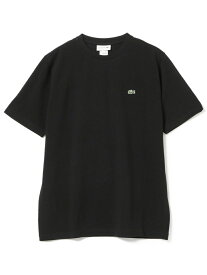 BEAMS MEN LACOSTE / 鹿の子クルーネックTシャツ ビームス メン カットソー Tシャツ ブラック ネイビー ホワイト【送料無料】