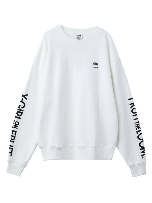 X-girl x FRUIT OF THE LOOM SWEAT TOP/スウェット