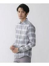 メランジチェックシャツ