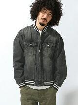 【WEGO】【BROWNY VIN】(M)ラインリブデニムジャケット