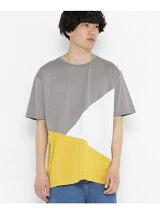 ランダムブロックドTシャツ(5分袖)