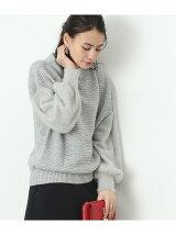【2WAY】袖フェザーボトルネックプルオーバー