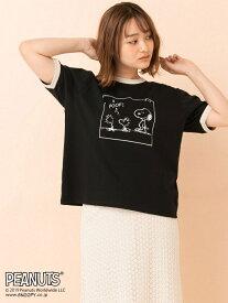 【SALE/34%OFF】RETRO GIRL RETRO GIRL/PEANUTS リンガーTee レトロガール カットソー【RBA_S】【RBA_E】