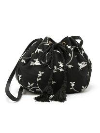 【SALE/56%OFF】Dukkah/(L)チュール刺繍巾着ショルダー ウィゴー バッグ【RBA_S】【RBA_E】