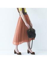 ≪大きいサイズ≫ウエストゴムロングプリーツスカート