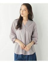 【洗濯機OK】【防シワ】袖リボンスキッパーシャツ