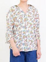 花柄スキッパーシャツ
