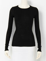 wool ribcrew neck pullover