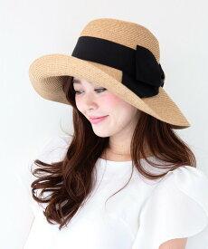 Aurelia ポケッタブルコインリボンハット ケイスタイル 帽子/ヘア小物 ハット ブラック ホワイト【送料無料】