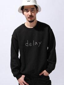 """MYE-DO' DESIGN 【U】GD クルースウェット """"delay"""" マイドゥーデザイン カットソー スウェット ブラック グレー【送料無料】"""