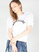 ブリリアントロゴフリルショルダーTシャツ