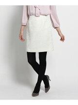 ラメツイードスカート