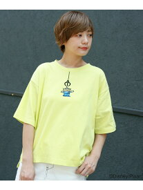 【SALE/18%OFF】DOUBLE NAME <TOYSTORYALIENS>Tシャツ レイカズン カットソー Tシャツ イエロー ブラック ブルー グレー ホワイト【送料無料】