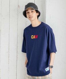 【SALE/68%OFF】coen C.A.WワッペンTシャツ コーエン カットソー Tシャツ ネイビー ホワイト グレー イエロー