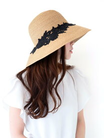 Aurelia コットンレースキャペリン ケイスタイル 帽子/ヘア小物 ハット ブラック ベージュ ホワイト【送料無料】