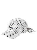 BACK RIBBON DOT CAP