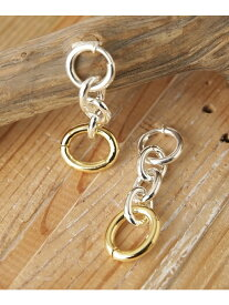 【SALE/50%OFF】on the sunny side of OvalLong&ShorChainEarClips ナノユニバース アクセサリー ピアス シルバー