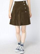 サイドボタン台形スカート