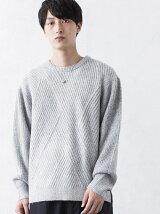BROWNY VIN/(M)ウールタッチサイドスリットセーター