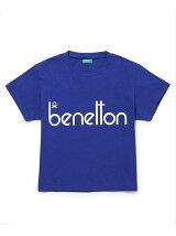 【UNITED COLORS OF BENETTON. FOR ADAM ET ROPE'】Flocky vintage logo t-shirt