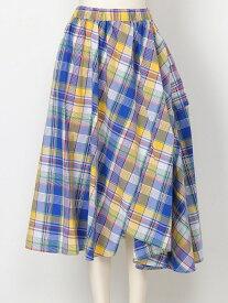 【SALE/40%OFF】FRAPBOIS マドラスコロネ フラボア スカート フレアスカート ブルー オレンジ【送料無料】