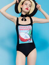 """""""ANDROID GIRL"""" ONE-PIECE SWIMSUIT"""