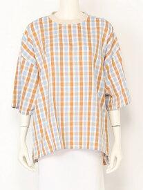 【SALE/40%OFF】FRAPBOIS スプリットシャツ フラボア シャツ/ブラウス 半袖シャツ オレンジ【送料無料】