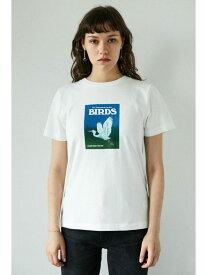 【SALE/50%OFF】MOUSSY BIRDS Tシャツ マウジー カットソー Tシャツ ホワイト ブラック イエロー ブルー