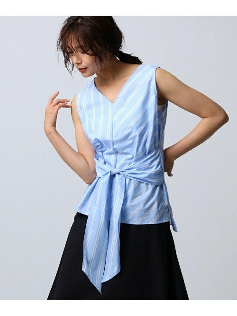 【SALE/70%OFF】Untit_ フロンタイストライプシャツ アンタイトル シャツ/ブラウス【RBA_S】【RBA_E】