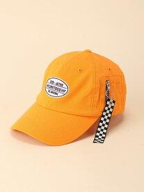 【SALE/50%OFF】LOVETOXIC クリアチャーム付ローCAP ナルミヤオンライン 帽子/ヘア小物 キャップ オレンジ ブラック ホワイト イエロー
