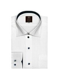 【SALE/50%OFF】BRICK HOUSE by Tokyo Shirts (M)形態安定 ノーアイロン 長袖シャツ ワイド 白×ストライプ織柄 ブリックハウスバイトウキョウシャツ シャツ/ブラウス 長袖シャツ ホワイト